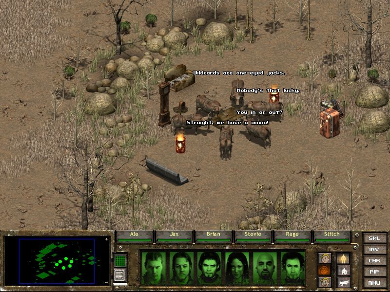 Fallout Tactics: Brotherhood of Steel  Windows The infamous poker-playing Bhramins