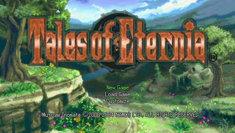 Tales of Destiny II PSP Main Menu & Title Screen