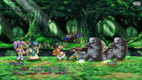 Tales of Destiny II PSP Battle screen