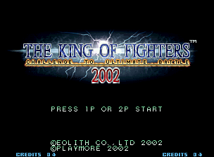 The King of Fighters 2002: Challenge to Ultimate Battle Neo Geo Title screen