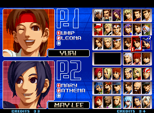 The King of Fighters 2002: Challenge to Ultimate Battle Neo Geo Character selection