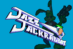 Jazz Jackrabbit Game Boy Advance Title screen.