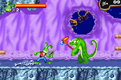 Jazz Jackrabbit Game Boy Advance Your basic weapon has unlimited ammo.