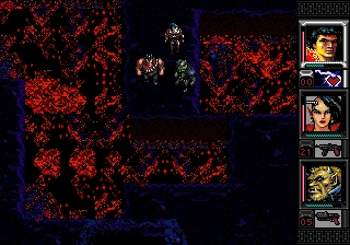Shadowrun Genesis Lava filled caves in the depths of the Silish-Shidhe lands