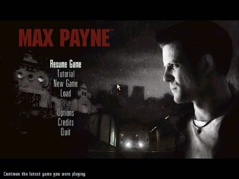 Max Payne Windows Main Menu