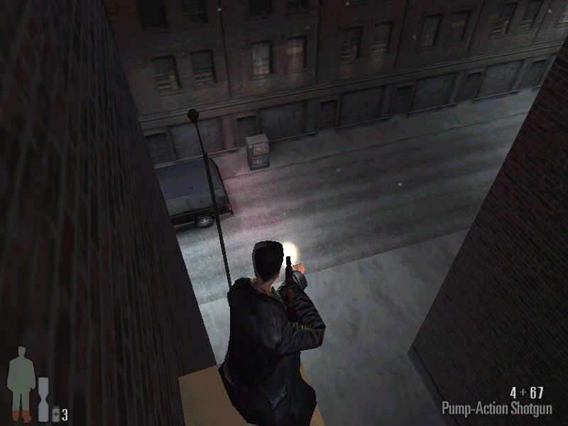 Max Payne Windows Shooting from the ledge.