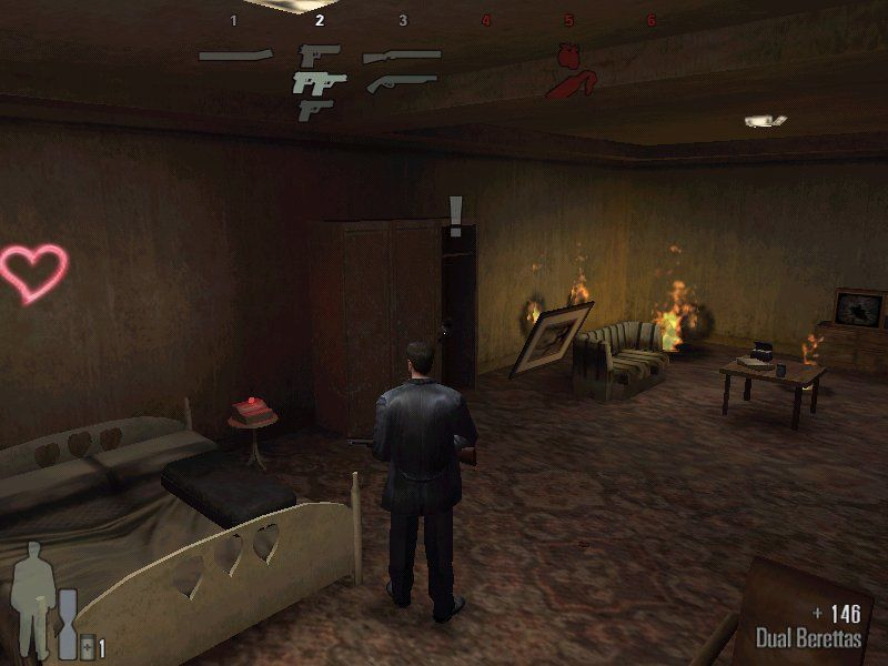 Max Payne Windows Selecting weapons is always better in some quiet room then in between shootout.