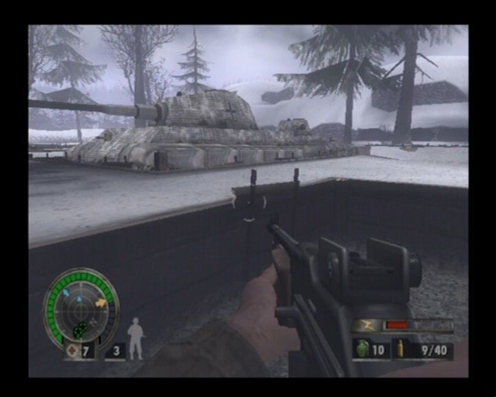 Medal of Honor: European Assault PlayStation 2 Approaching King Tiger class tanks