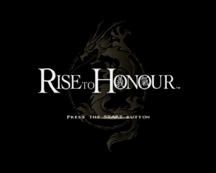 Rise to Honor PlayStation 2 Title screen