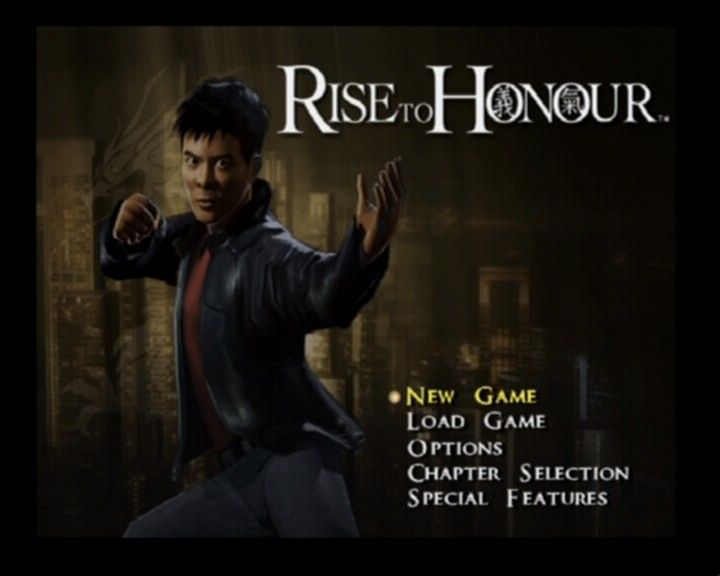 Rise to Honor PlayStation 2 Main menu