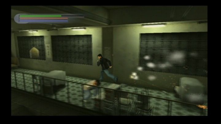 Rise to Honor PlayStation 2 Running from a crazy guy with machine gun.