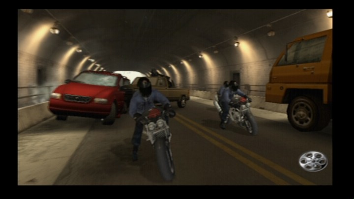 Rise to Honor PlayStation 2 These bikers are determined to run you down.