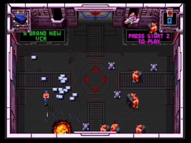 Smash T.V. Xbox 360 Meet Mr. Shrapnel! Blast these guys before they explode...