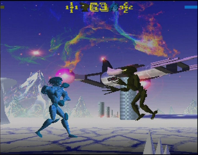 OloFight Amiga Archos jumps at his enemy