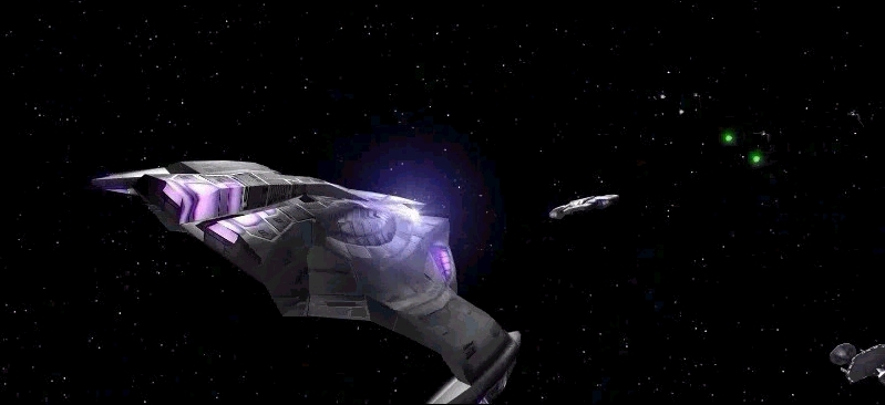 Star Trek: Deep Space Nine - Dominion Wars Windows Part of the opening trailer, Dominion cruiser about to get blasted...