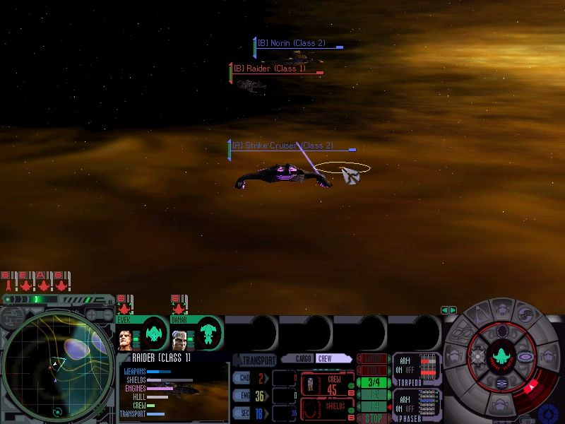 Star Trek: Deep Space Nine - Dominion Wars Windows Jem'hadar Strike Cruiser and Cardassian Norin making short work of a Maquis Raider in the Badlands