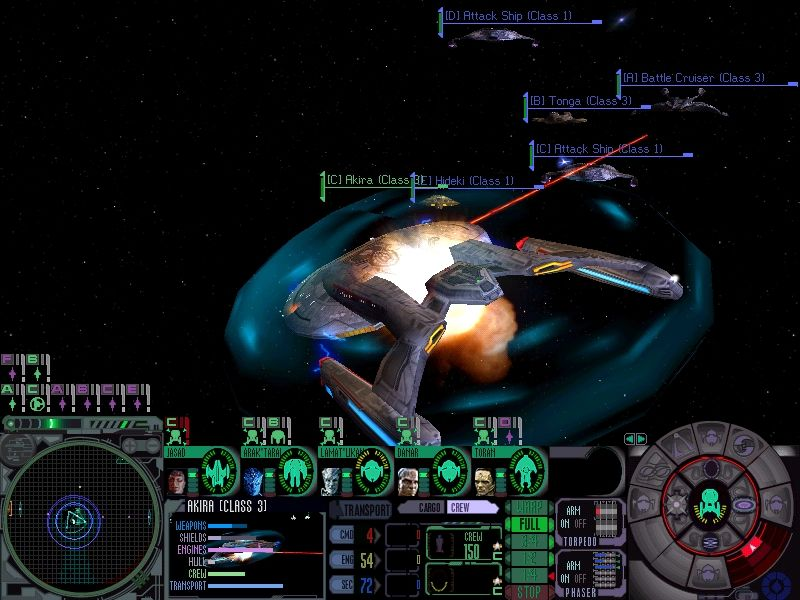 Star Trek: Deep Space Nine - Dominion Wars Windows Federation Akira is surrounded by the Dominion fleet...