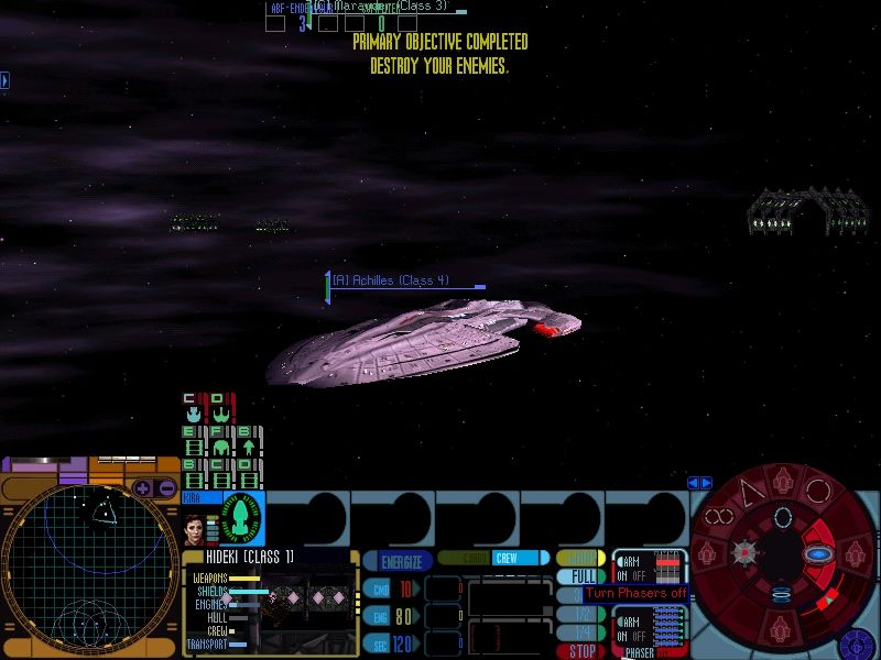 Star Trek: Deep Space Nine - Dominion Wars Windows Multiplayer game has a winner... Achilles-class starship in the foreground