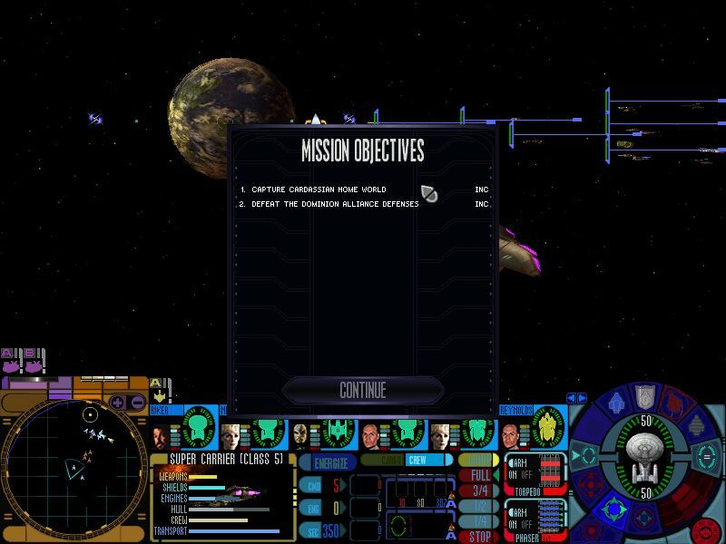 Star Trek: Deep Space Nine - Dominion Wars Windows Final mission for the Federation... Conquer Cardassia Prime...