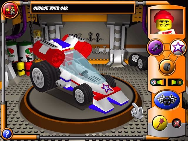 LEGO Stunt Rally Windows Car Selection