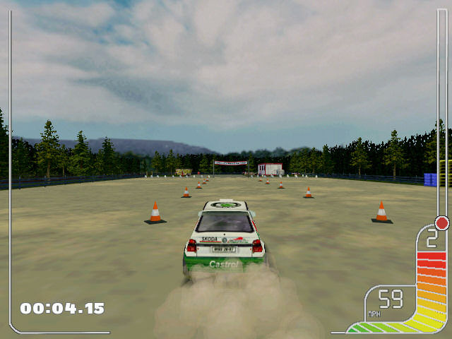 Colin McRae Rally Windows First test in rally school