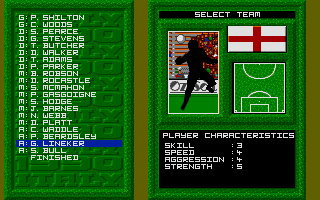 World Class Soccer Atari ST Quite low ratings for 1986's top scorer