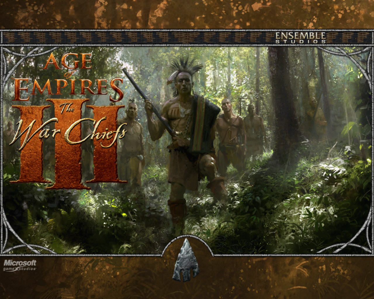Age of Empires III: The WarChiefs Windows Title screen.