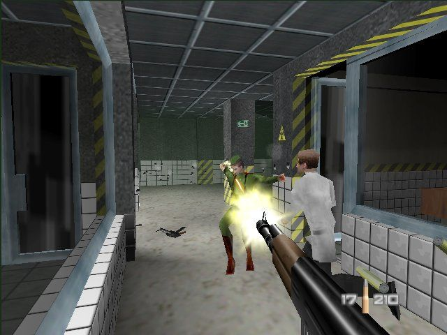 """GoldenEye 007 Nintendo 64 A scene from the famous """"Facility"""" level"""
