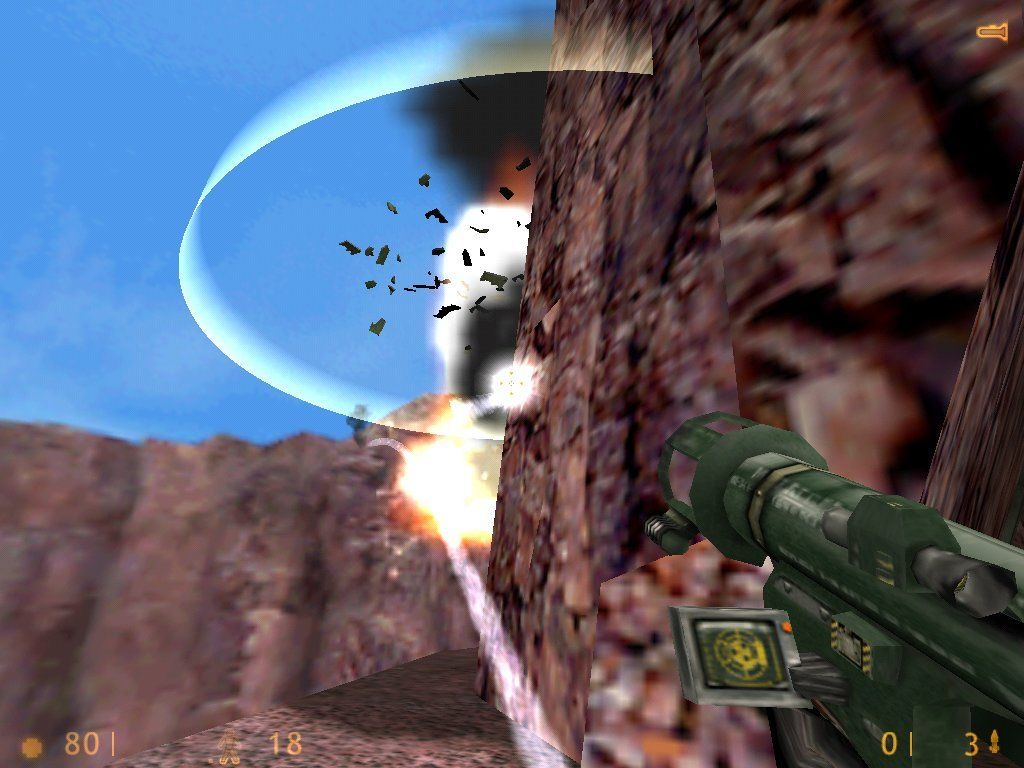 Half-Life Windows BOOOM! Apache helicopter shot down