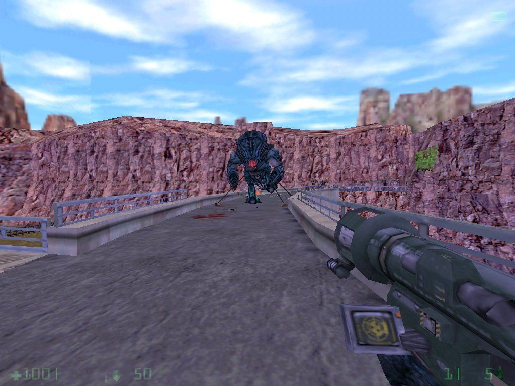 Half-Life: Opposing Force Windows Some soldiers captured a big alien