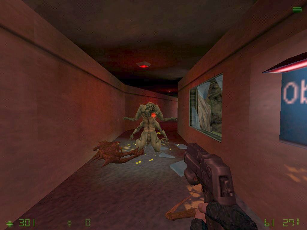 Half-Life: Opposing Force Windows The desert eagle is much more powerful than the glock pistol