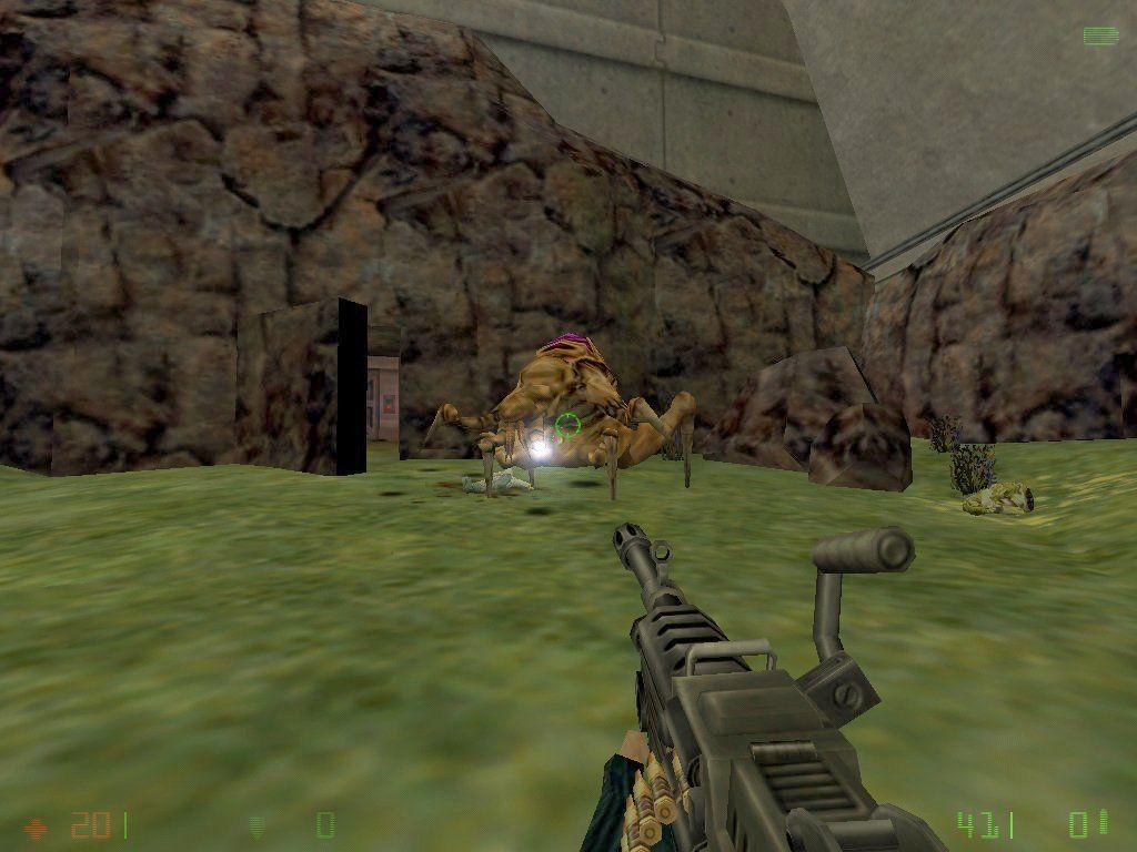 Half-Life: Opposing Force Windows The new machine gun and a Voltigore alien