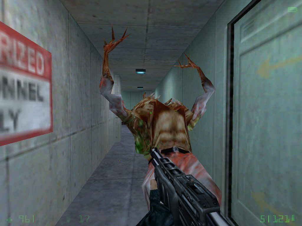 "Half-Life: Opposing Force Windows Killed a really nasty ""super zombie"" which appear in Opposing Force. They're really fast and hard to kill"