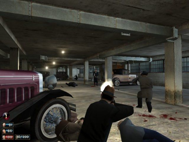 Mafia Windows Shootout in a car park