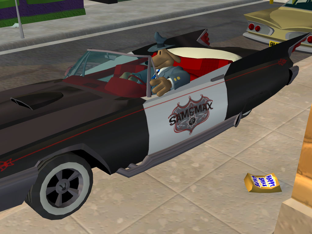 Sam & Max Episode 1: Culture Shock Windows Sam still drives his familiar car.