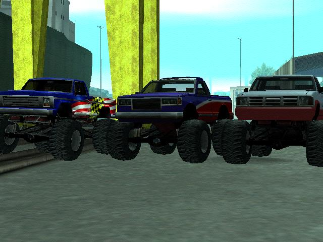 Grand Theft Auto: San Andreas Windows Some Monster Trucks