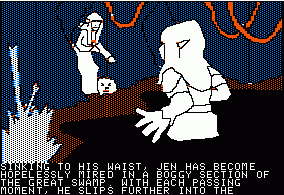 Hi-Res Adventure #6: The Dark Crystal Apple II The crucial moment were Jen meets Kira, another Gelfling. Could it be love?