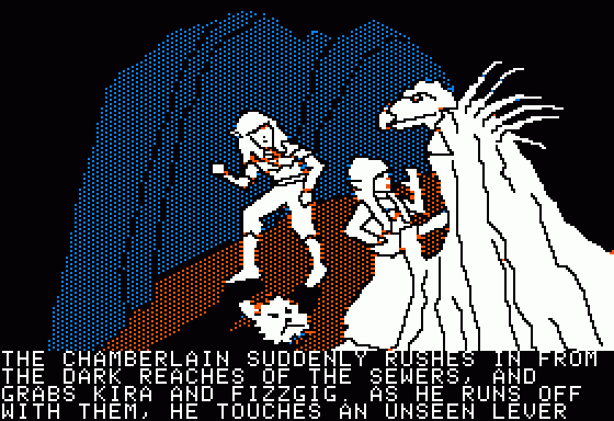 Hi-Res Adventure #6: The Dark Crystal Apple II Oh no! The evil Chamberlain grabs Kira and Fizzgig!