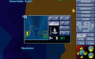 "X-COM: Terror from the Deep DOS One of our fast ""Barracuda"" boats is intercepting an enemy UFO"