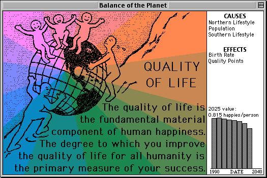 Balance of the Planet Macintosh The quality of life for all humanity is at stake