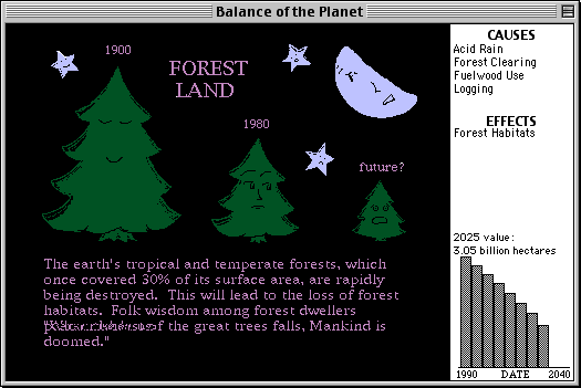 Balance of the Planet Macintosh The game does not put you in a good mood