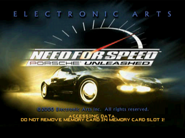 Need for Speed: Porsche Unleashed PlayStation Title screen