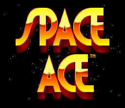 Space Ace SNES Title screen