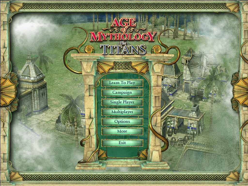 Age of Mythology: The Titans Windows Main Menu
