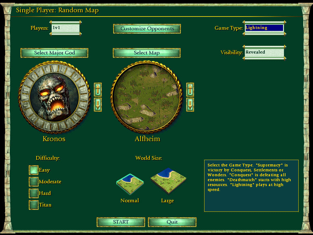 Age of Mythology: The Titans Windows more settings