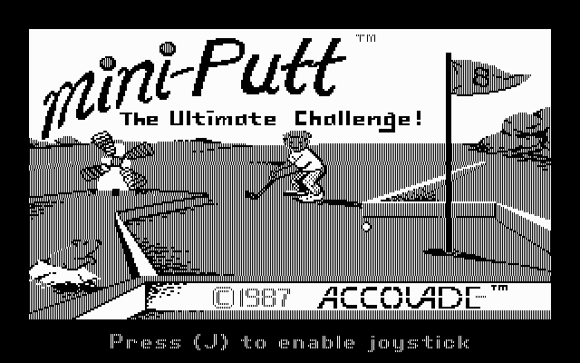 Mini-Putt DOS Title Screen (Hercules MGA)