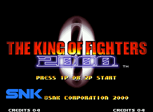 The King of Fighters 2000 Neo Geo Title screen.