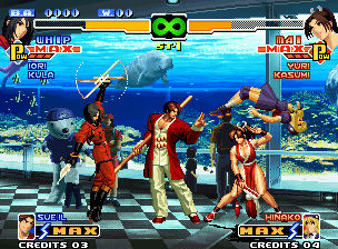 The King of Fighters 2000 Neo Geo While Hinako still feels the effect of Whip's rolling-knife move, Mai can be planning a next move...