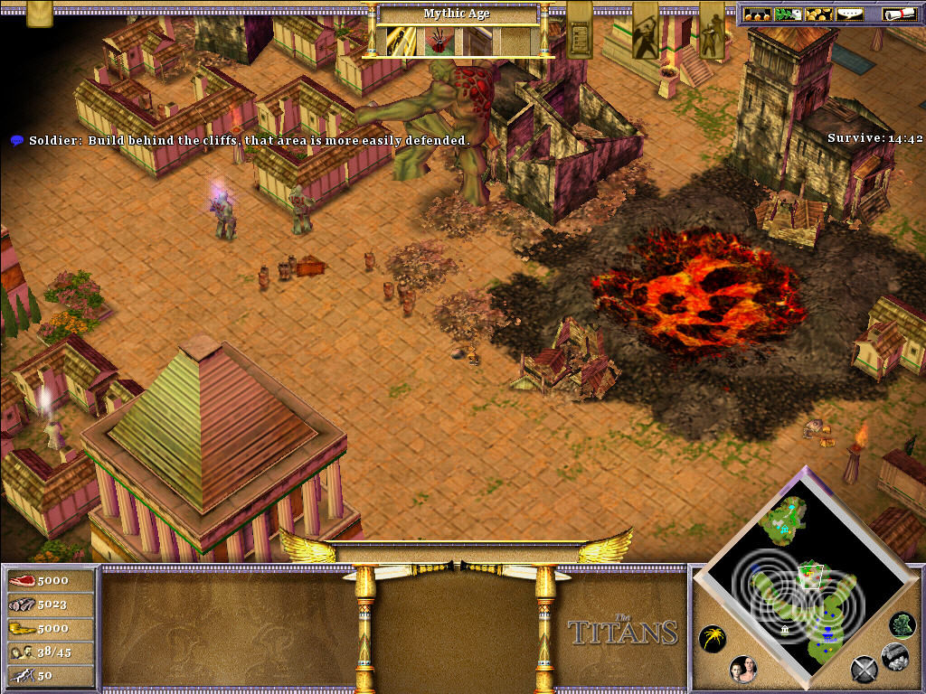 Age of Mythology: The Titans Windows A titan 50,000 hit points!!