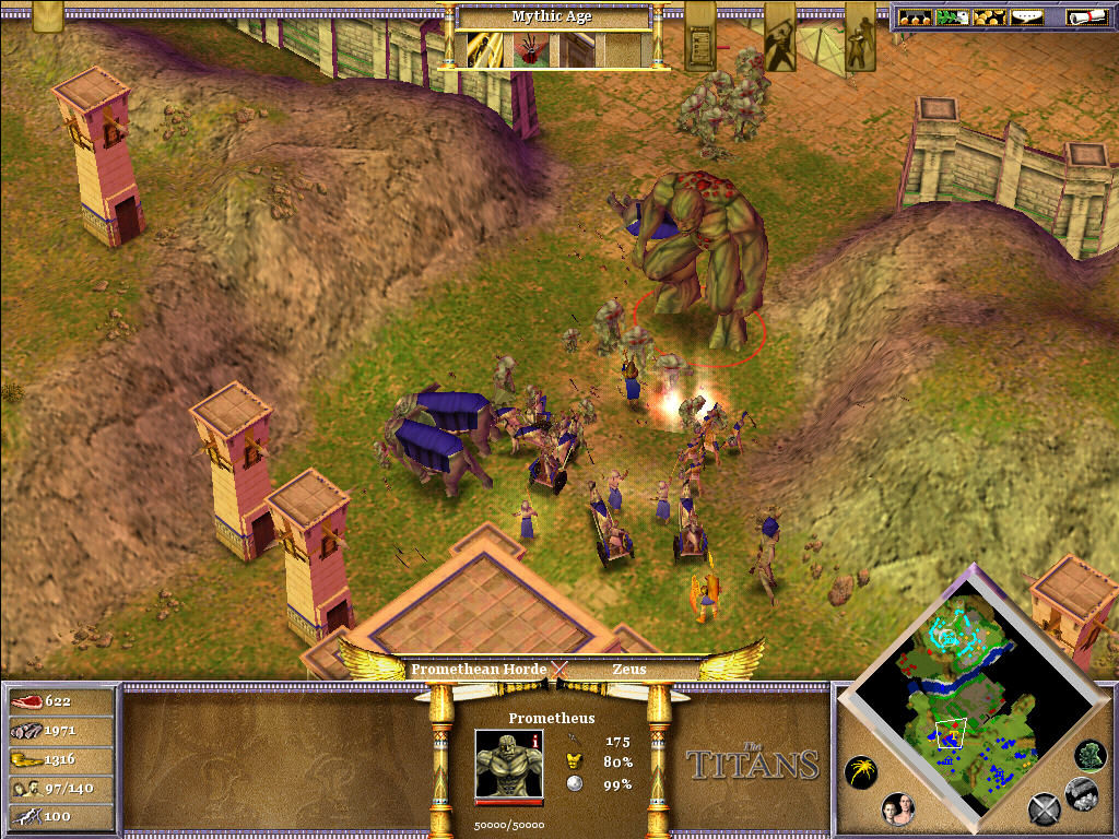 Age of Mythology: The Titans Windows Fighting Promethus
